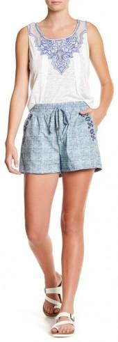Skies Are Blue Faux Denim Short