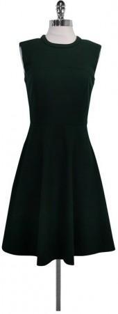 Magaschoni Hunter Green Flared Dress
