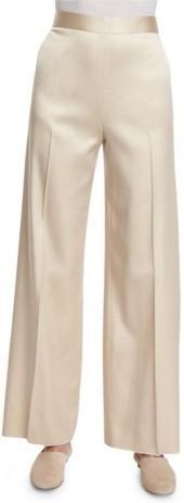 THE ROW Selip High-Waist Wide-Leg Pants, Alabaster