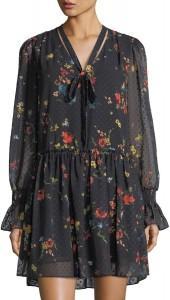 Laundry By Shelli Segal Floral-Print Drop-Waist Dress