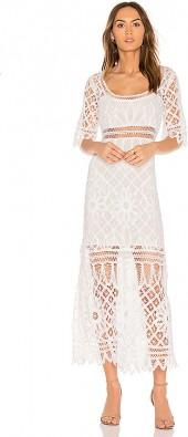 LoveShackFancy Tessa Dress in White