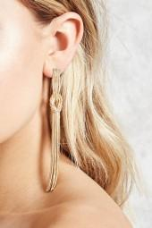 FOREVER 21 Knotted Duster Earrings