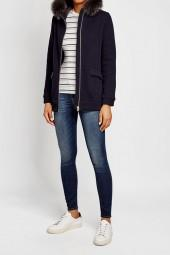 Woolrich Fur-Trimmed Jacket with Wool and Cotton