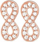 Thomas Sabo Glam & Soul infinity 18ct rose gold-plated and zirconia earrings