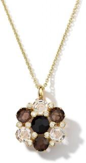Ippolita 18k Gemma Onyx, Quartz & Diamond Pendant Necklace