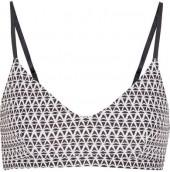 The Upside - Majestic Ballet Printed Stretch Sports Bra - Black