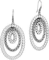 John Hardy Classic Chain Orbital Hoop-Drop Earrings