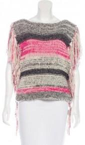Étoile Isabel Marant Cable Knit Fringe-Trim Top