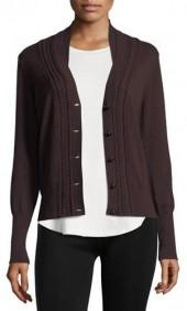 Burberry Natisone Cashmere Cable-Knit Cardigan