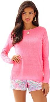 Lilly Pulitzer Alana Linen Boatneck Pullover Sweater