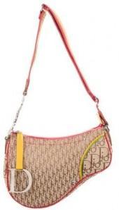 Christian Dior Diorissimo Rasta Saddle Bag