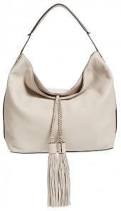 Rebecca Minkoff 'Isobel' Tassel Leather Hobo - Grey