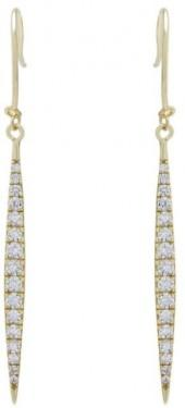 Gemma Collection Pave Spike Earrings