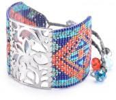 Mishky Arabesque 18K Gold Plated Beaded Bracelet Set