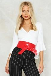 nastygal Noise Pollution Vegan Leather Belt