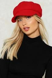 nastygal You Stay Here Baker Boy Cap