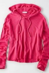 American Eagle Outfitters Don't Ask Why Waffle Hoodie