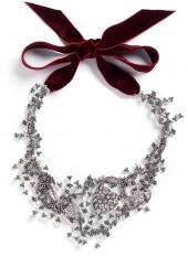 Lulu Frost 'Nina Collage' glass crystal and pearl heart charm bib necklace