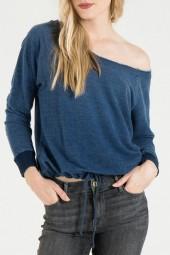Bella Dahl Raglan Tie Front Sweatshirt