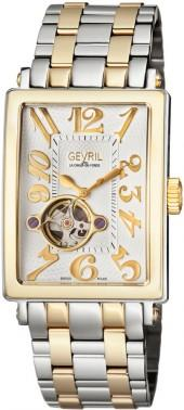 Gevril Avenue of Americas Intravedre Automatic Two-Tone Bracelet Watch