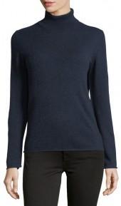 Neiman Marcus Cashmere Turtleneck Sweater, Navy
