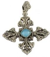 Women's Konstantino Aegean Large Cross Pendant