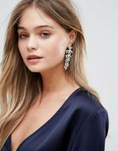 New Look Statement Leaf Earrings