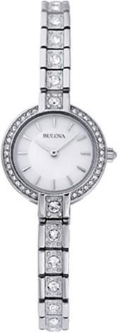 Ladies' Bulova Crystal Accent Watch with Mother-of-Pearl Dial (Model: 96L209)