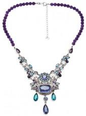 "Nicky Butler Raj 39.15ctw Amethyst and Multigemstone Sterling Silver 17"" Beaded Dangle Necklace"