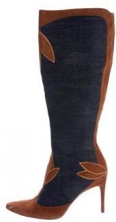 Dolce & Gabbana Denim Pointed-Toe Boots