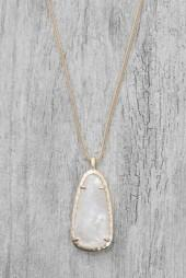 Kendra Scott Saylor Ivory Crystal Pendant Necklace