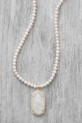 Kendra Scott Marlow Ivory Crystal Pendant Necklace