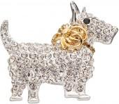 Napier Cubic Zirconia Two Tone Scottie Dog Pin