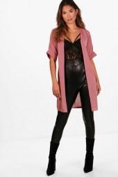 boohoo Hayley Kimono Sleeve Midi Cardigan