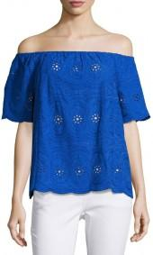 Philosophy Off-the-Shoulder Eyelet Top