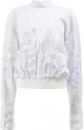 Juun.J striped cropped sweatshirt