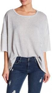 dee elly Oversized Cutoff Sweatshirt