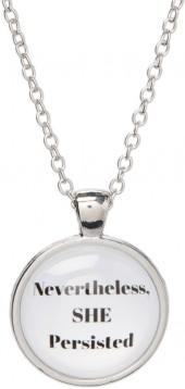 Silvertone 'Nevertheless, SHE Persisted' Pendant Necklace