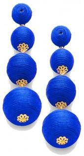 Gemma Collection Blue Ball Earrings