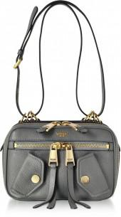 Moschino Dark Gray Leather Shoulder Bag