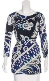 Emilio Pucci Long Sleeve Jersey Top