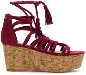 Nk leather platform sandals