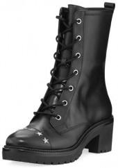 MICHAEL Michael Kors Cody Star-Studded Leather Combat Boot