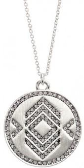 House of Harlow 1960 Brushed Crystal Pendant Necklace