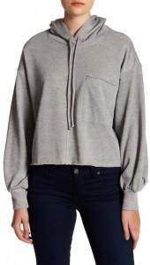 CAD Metallic Cropped Pullover Hoodie