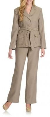 Danillo - 202166 Self Tie Twill Pants Suit