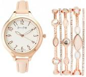 jessica carlyle ST2041RG582 Rose Gold-Tone Watch & Bracelet Set