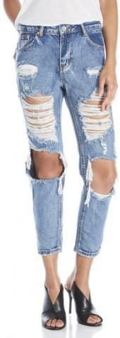 signature 8 Deconstructed Boyfriend Jeans