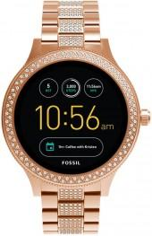 Fossil Women's Q Venture Gen 3 Rose Gold-Tone Stainless Steel Touchscreen Smart Watch 42mm