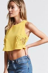 FOREVER 21 Caged-Front Crop Top